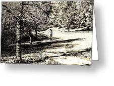 At The Lake-41 Greeting Card