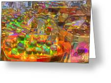At The Market - Oranges Greeting Card
