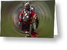 At The Powwow Sault Ste Marie Michigan Greeting Card