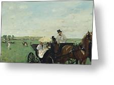 At The Races In The Countryside Greeting Card