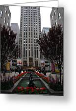 At The Rockefeller Center Greeting Card