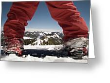 At The Top Of The Mountain Greeting Card