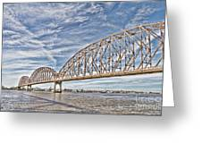 Atchafalaya River Bridge Greeting Card
