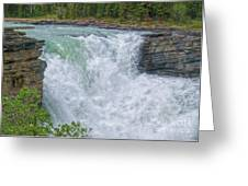 Athabasca Falls Study V Close-up Greeting Card