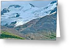 Athabasca Glacier Along Icefields Parkway In Alberta Greeting Card
