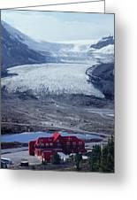 1m3734-athabasca Glacier W Original Icefields Chalet Greeting Card