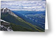 Athabasca River Valley - Jasper Greeting Card