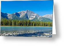 Athabasca River With Mountains Greeting Card