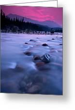 Athabasca Sunset Greeting Card