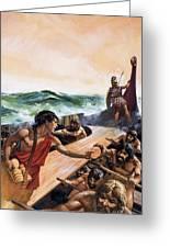 Athenian Trireme Greeting Card
