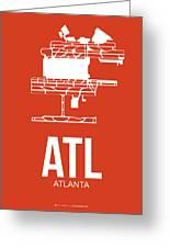 Atl Atlanta Airport Poster 3 Greeting Card