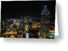 Atlanta City Lights Greeting Card