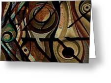 Atlanta Earth Abstract Art Greeting Card