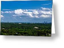 Atlanta From High Greeting Card
