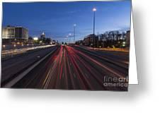 Atlanta Georgia Midtown Freeway Greeting Card