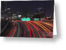 Atlanta Interstae 85 Night Greeting Card