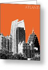 Atlanta Skyline 2 - Coral Greeting Card