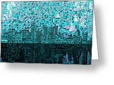 Atlanta Skyline Abstract 2 Greeting Card