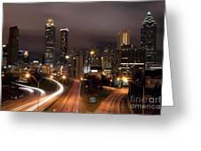 Atlanta Skyline At Dusk Greeting Card
