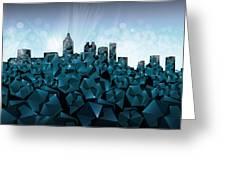 Atlanta Skyline Geometry 3 Greeting Card