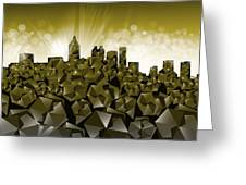 Atlanta Skyline Geometry Greeting Card