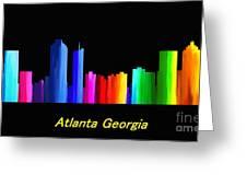 Atlanta Skyline Greeting Card by Guy  Cannon