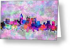 Atlanta Skyline Watercolor 4 Greeting Card