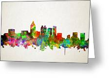 Atlanta Skyline Watercolor Greeting Card