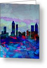 Atlanta Watercolor Skyline Greeting Card