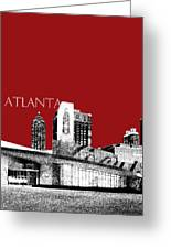 Atlanta World Of Coke Museum - Dark Red Greeting Card by DB Artist