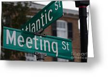 Atlantic And Meeting St Greeting Card
