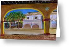Atlantic Ave From The Shade Of Hands Greeting Card