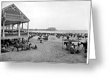 Atlantic City Beach, C1900 Greeting Card