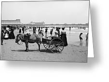 Atlantic City Beach, C1901 Greeting Card