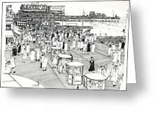 Atlantic City Boardwalk 1940 Greeting Card