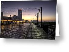 Atlantic City Boardwalk In The Morning Greeting Card