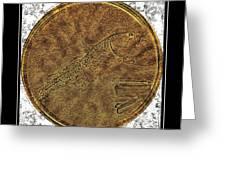 Atlantic Codfish And Jigger - Brass Etching Greeting Card