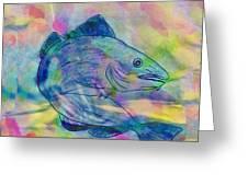 Atlantic Codfish Digital Color Greeting Card