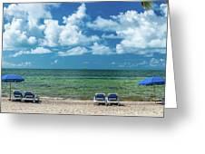Atlantic Ocean At Smathers Beach In Key Greeting Card