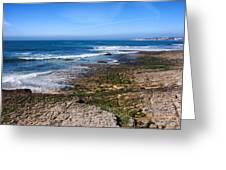 Atlantic Ocean Shore In Estoril Greeting Card
