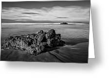 Downhill - Atlantic Rocks Greeting Card