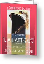 French Travel Poster Advertisement Atlantique Greeting Card