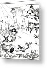 Atlantis Mermaids Greeting Card