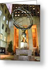 Atlas In Rockefeller Center Greeting Card