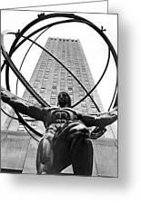 Atlas In Rockefeller Center Greeting Card