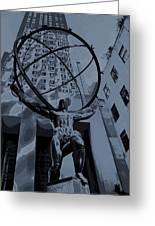 Atlas Rockefeller Center Poster Greeting Card