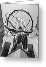 Atlas Statue Rockefeller Center Greeting Card