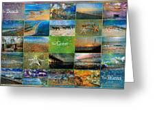 Atmospheric Beaches   Greeting Card