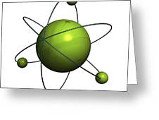 Atom Structure Greeting Card by Johan Swanepoel