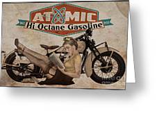 Atomic Gasoline Greeting Card by Cinema Photography